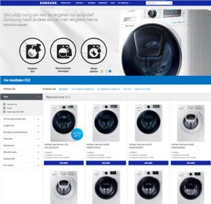 Samsung wasmachine met Eco Bubble